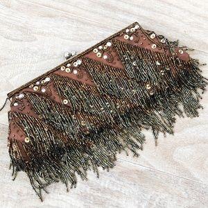 Handbags - Fringe Beaded Clutch Evening Purse Bag